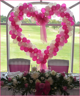 Bubbles Balloons Heart Design