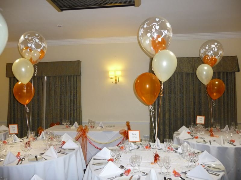 Orange and cream wedding theme