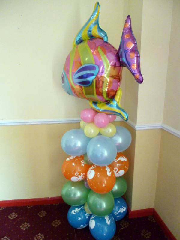 Fish topped balloons