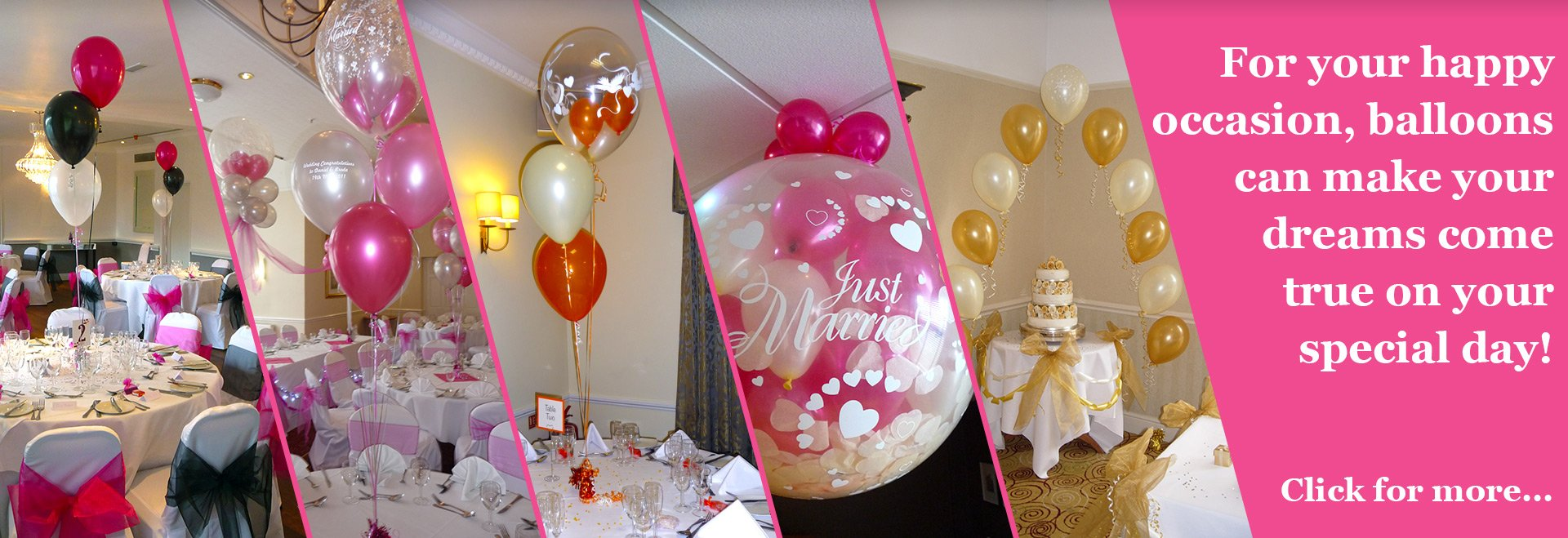 Bubbles Balloons Weddings Slide