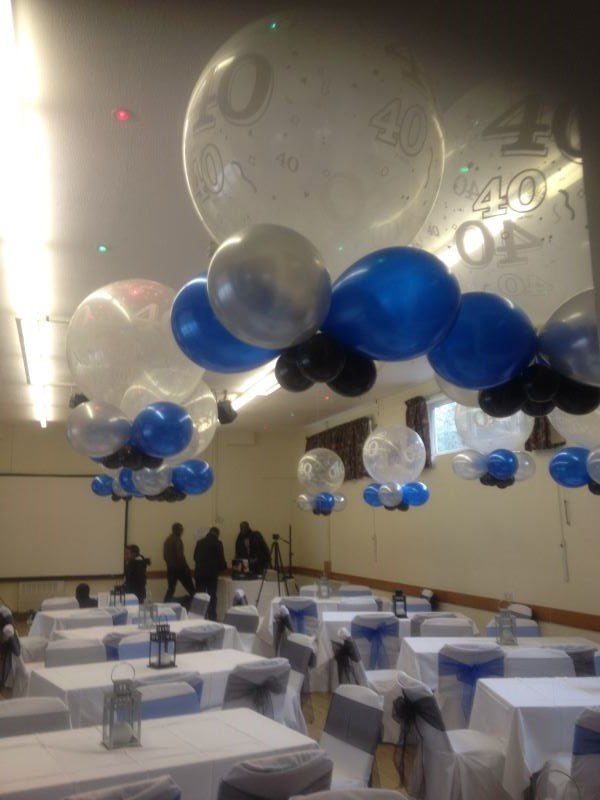 These huge three feet clear numbered balloons make a spectacular