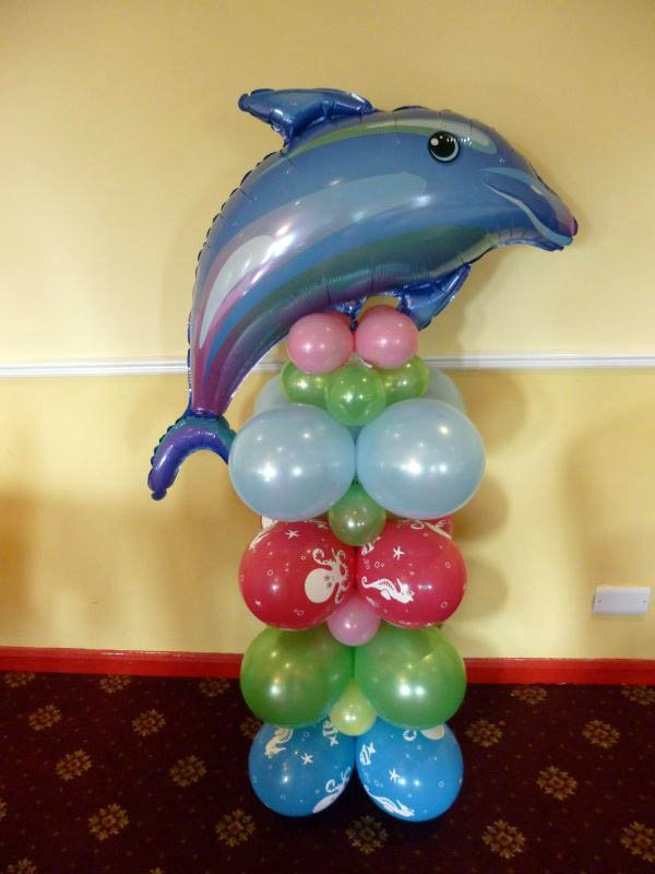 Shark topped balloons
