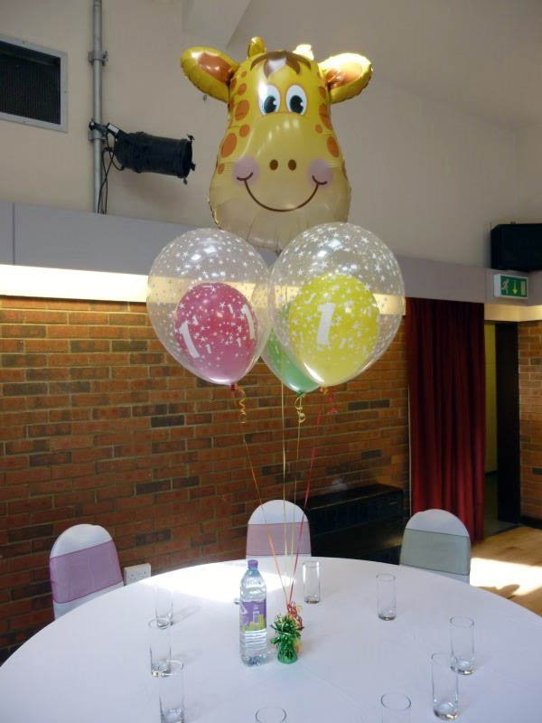 he table bouquet can be adapted for any theme or aged birthday