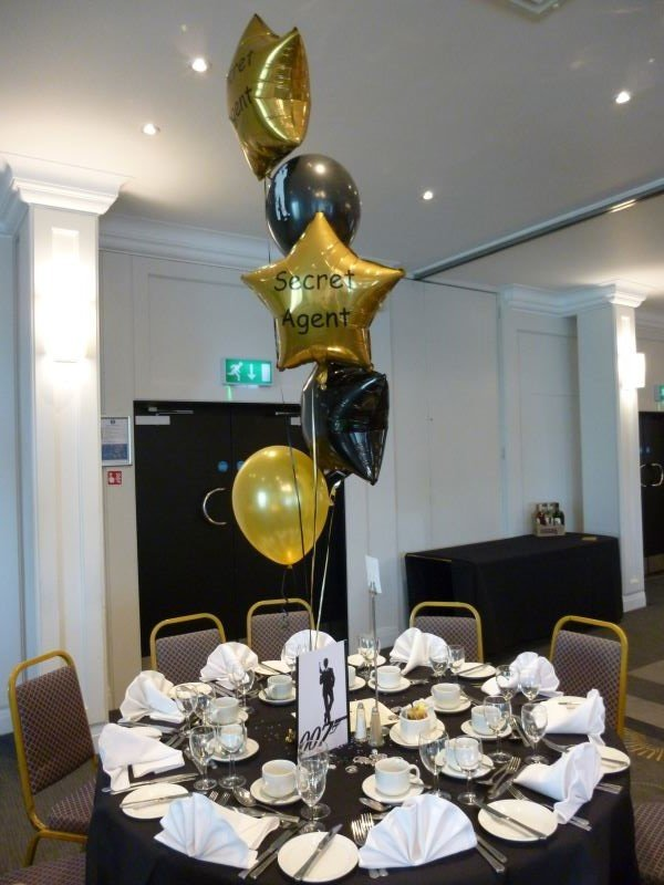 James Bond themed balloons