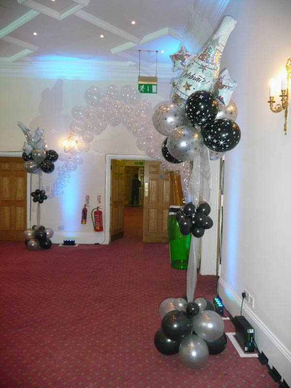 James Bond themed corporate event with lots of dazzler foils, ma